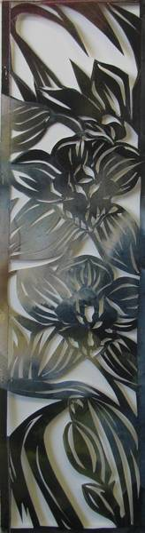Painting - Watercolor Orchids Cut Out by Alfred Ng