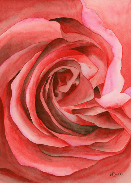 Painting - Watercolor Rose by Ken Powers