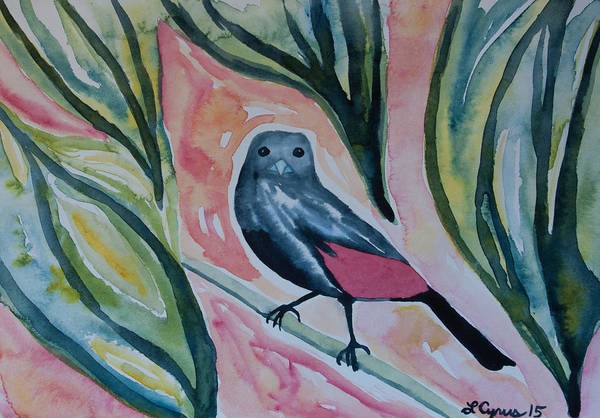 Painting - Watercolor - Scarlet-rumped Tanager by Cascade Colors