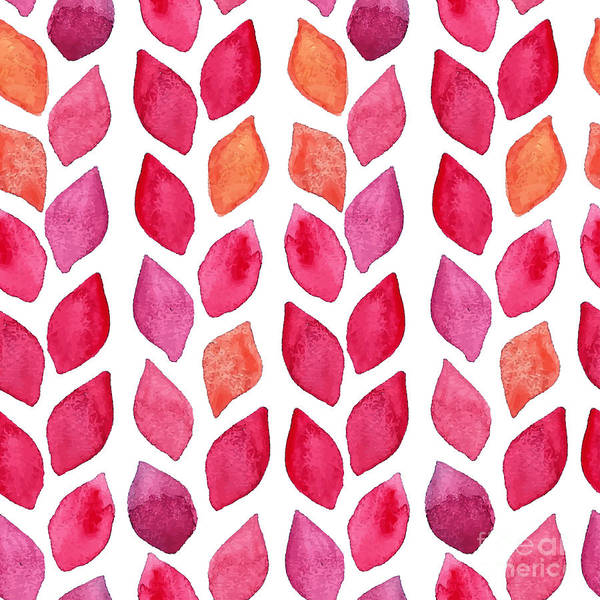 Plant Digital Art - Watercolor Seamless Pattern. Colorful by Ajgul
