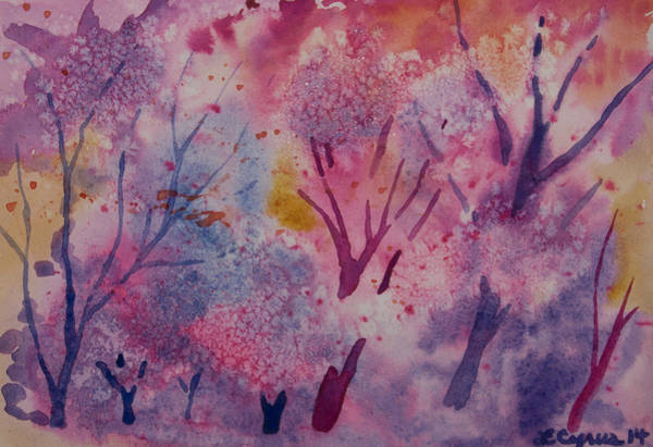Painting - Watercolor - Vivid Forest by Cascade Colors