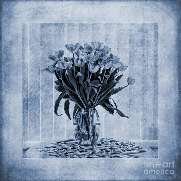 In Focus Wall Art - Painting - Watercolour Tulips In Blue by John Edwards