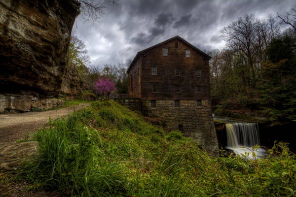 Photograph - Waterfall At The Old Mill by David Dufresne