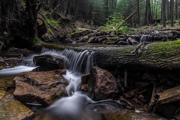 Clarion Photograph - Waterfall At Timber Cove by Anthony Thomas