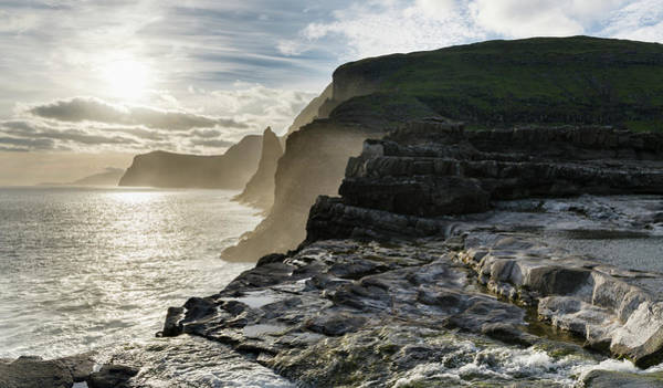 Archipelago Photograph - Waterfall Bosdalafossur At Sunset by Martin Zwick