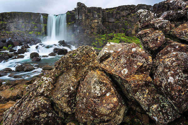 Continental Divide Photograph - Waterfall By The Continental Divide by Gavriel Jecan