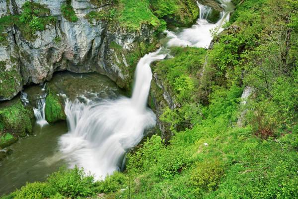Comte Wall Art - Photograph - Waterfall Cascade De La Billaude by Frank Krahmer