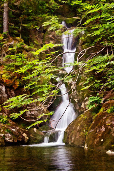 Photograph - Waterfall Dream Painterly by Jemmy Archer