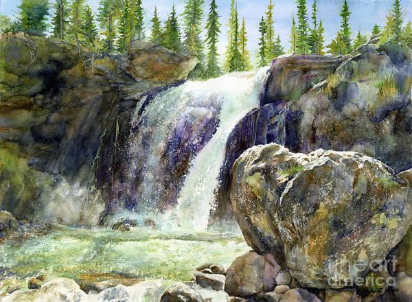 Wall Art - Painting - Waterfall by Hailey E Herrera