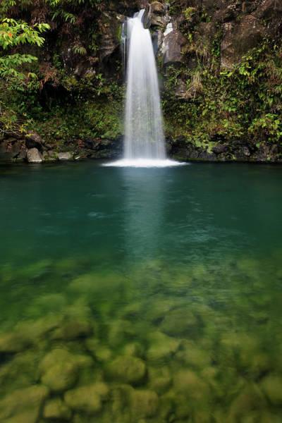 Maui Photograph - Waterfall, Hana Highway by Don Smith
