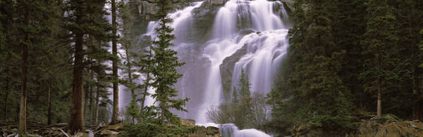 Peacefulness Photograph - Waterfall In A Forest, Banff, Alberta by Panoramic Images