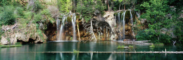 Hanging Rock Photograph - Waterfall In A Forest, Hanging Lake by Panoramic Images
