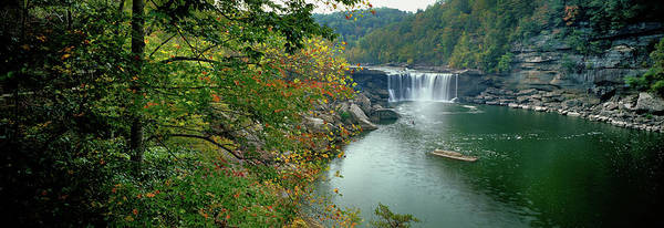Niagara Falls State Park Photograph - Waterfall In Forest, Cumberland Falls by Panoramic Images