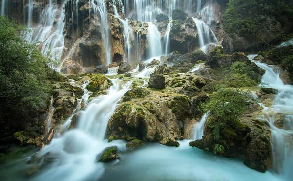 East Asia Photograph - Waterfall In Jiuzhaigou by Nutexzles