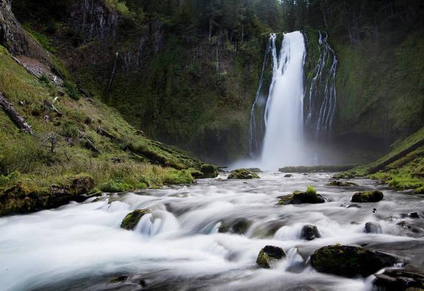 Douglas County Wall Art - Photograph - Waterfall In Oregon by Ben Girardi