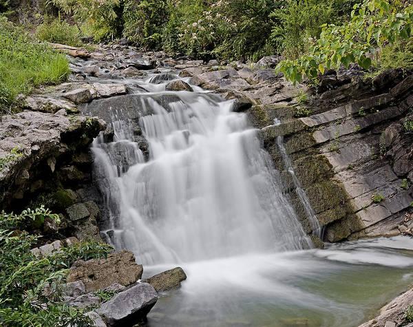 Wall Art - Photograph - Waterfall In Steele Creek Park - Bristol Tn by Brendan Reals