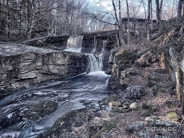 Wall Art - Photograph - Waterfall In The Fall by Frank Piercy