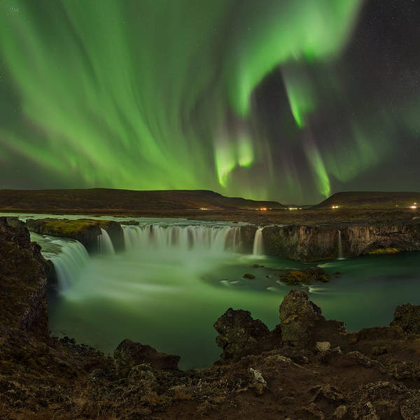 Northern Photograph - Waterfall Of Gods by Jan ??m??d Master