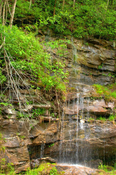 Photograph - Waterfall On The Way To Thurmond by Paulette B Wright