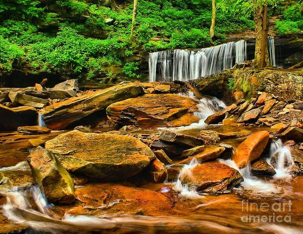 Photograph - Waterfall View From Below by Nick Zelinsky