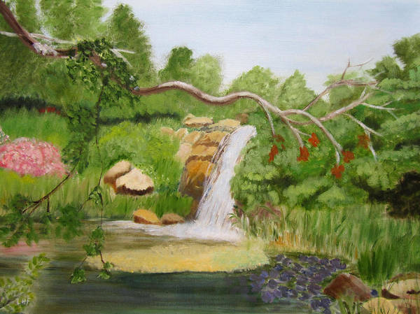 Painting - Waterfalls At Red Butte Garden by Linda Feinberg