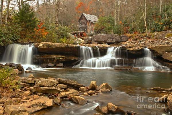 Photograph - Waterfalls Below The Mill by Adam Jewell