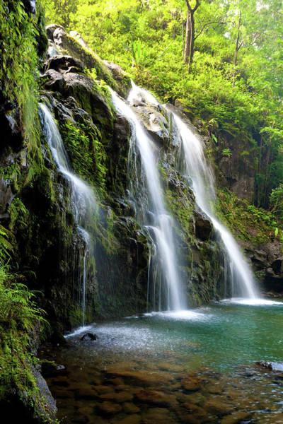 Maui Photograph - Waterfalls Hawaii by M.m. Sweet