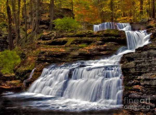 Photograph - Waterfalls In The Fall by Susan Candelario