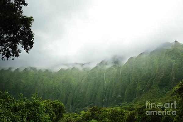 Photograph - Waterfalls On Ko'olau Mountains by Charmian Vistaunet