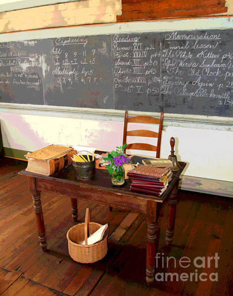 Photograph - Waterford Old School Teacher's Desk by Larry Oskin