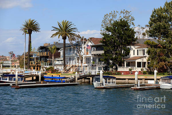 Palm House Photograph - Waterfront Luxury Homes In Orange County California by Paul Velgos