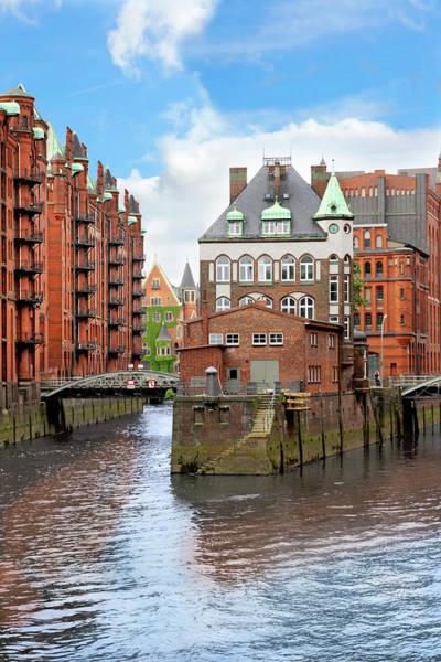 Motor Boat Photograph - Waterfront Warehouses And Lofts by Miva Stock