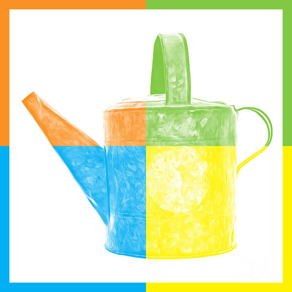 Wall Art - Photograph - Watering Can Pop Art by Edward Fielding