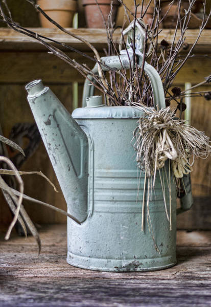 Photograph - Watering Can Pot by Heather Applegate