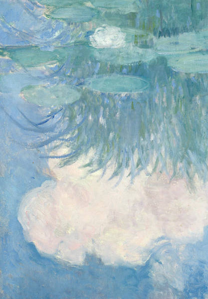 Wall Art - Painting - Waterlilies, Detail, 1914-17 by Claude Monet