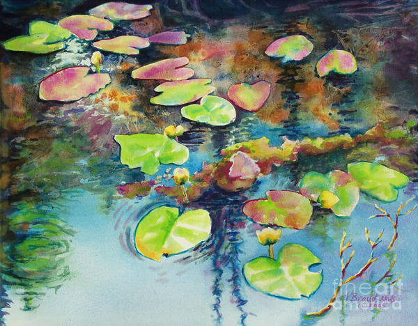 Wall Art - Painting - Waterlilies In Shadow by Kathy Braud