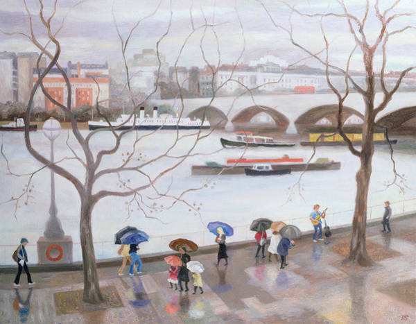 Gloomy Painting - Waterloo Promenade by Terry Scales