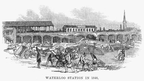 Developed Drawing - Waterloo Station And The  Surrounding by  Illustrated London News Ltd/Mar