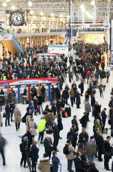 Commute Photograph - Waterloo Station by Mark Williamson/science Photo Library