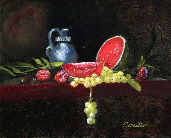 Watermellon Wall Art - Painting - Watermellon Delight by Ruben Carrillo