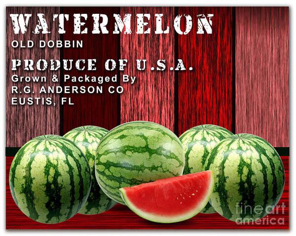 Watermellon Wall Art - Mixed Media - Watermelon Farm by Marvin Blaine