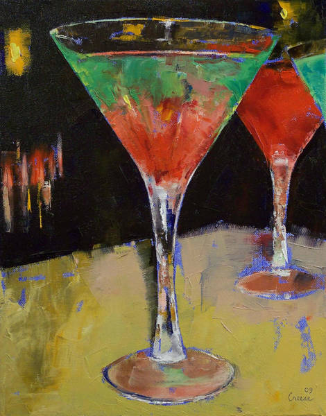 Melon Painting - Watermelon Martini by Michael Creese