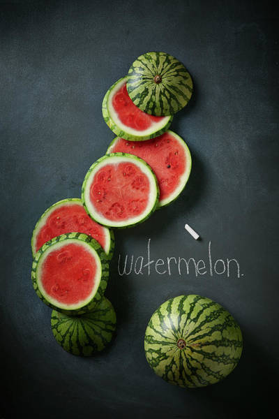 Freshness Photograph - Watermelon Slices by Lew Robertson