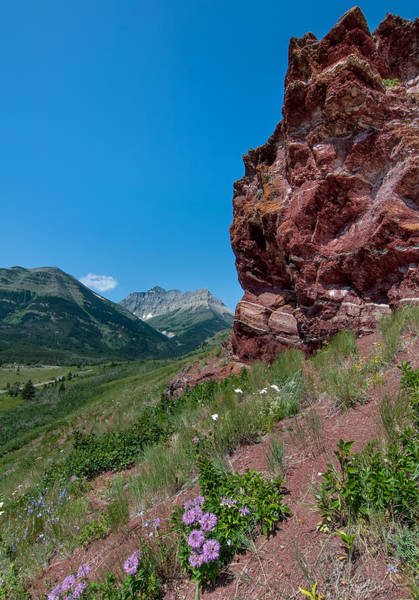 Wall Art - Photograph - Waterton Lake Red Rocks by James Wheeler