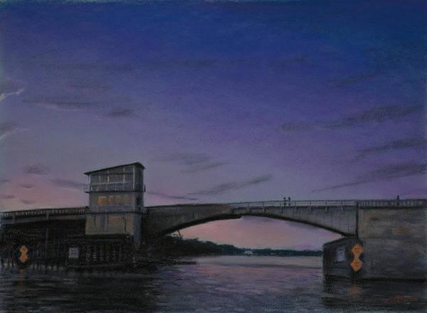Wrightsville Beach Wall Art - Pastel - Waterway Bridge At Dusk by Christopher Reid