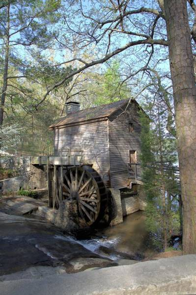 Waterwheel At Stone Mountain Art Print