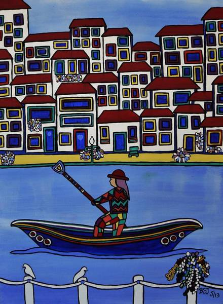 Watery Venice Art Print