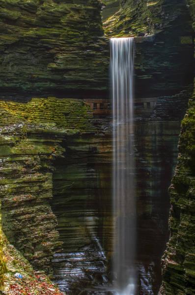 Cavern Photograph - Watkins Glen Central Cascade by Mark Papke