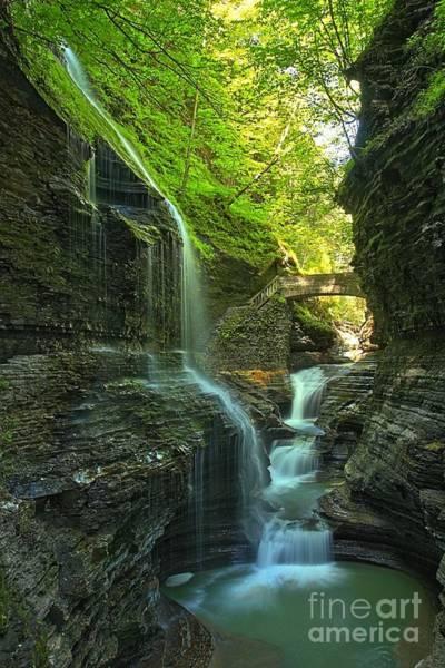 Photograph - Watkins Glen Falls Into The Pool by Adam Jewell