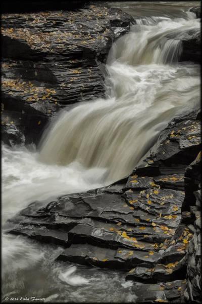 Photograph - Watkins Glen Stream by Erika Fawcett